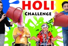 Photo of HOLI CHALLENGE 2020 Festival of colours #Family #Comedy Mom vs Dad | Aayu and Pihu Show